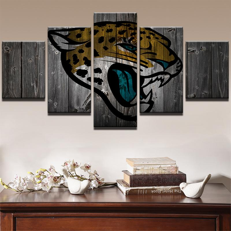 5 Piece Jacksonville Jaguars American Football Canvas Painting Wall Art - It Make Your Day