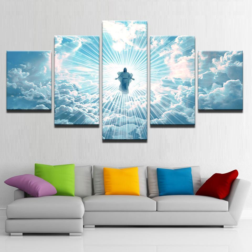 Framed 5 Piece Jesus Coming Canvas - It Make Your Day