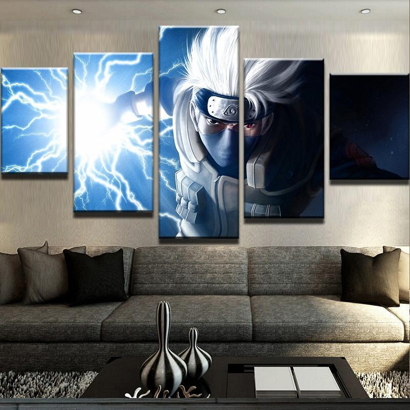 5 Piece Kakashi Lighting Blade Canvas Wall Art Paintings - It Make Your Day