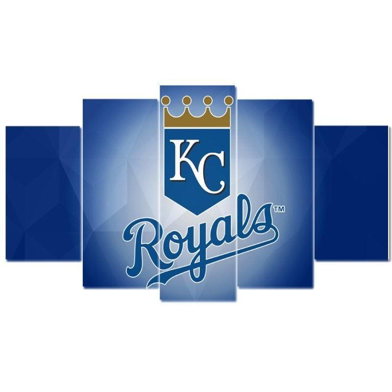 5 Piece Kansas City Royals Wall Art Canvas Paintings - It Make Your Day