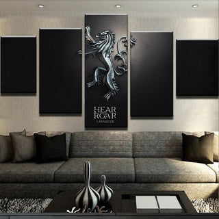 5 Piece Lannister Canvas Wall Art Paintings