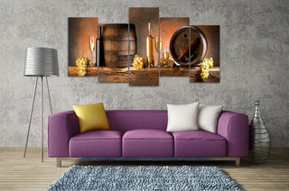 5 Piece Wine Classic 4 Canvas Wall Art Sets - It Make Your Day