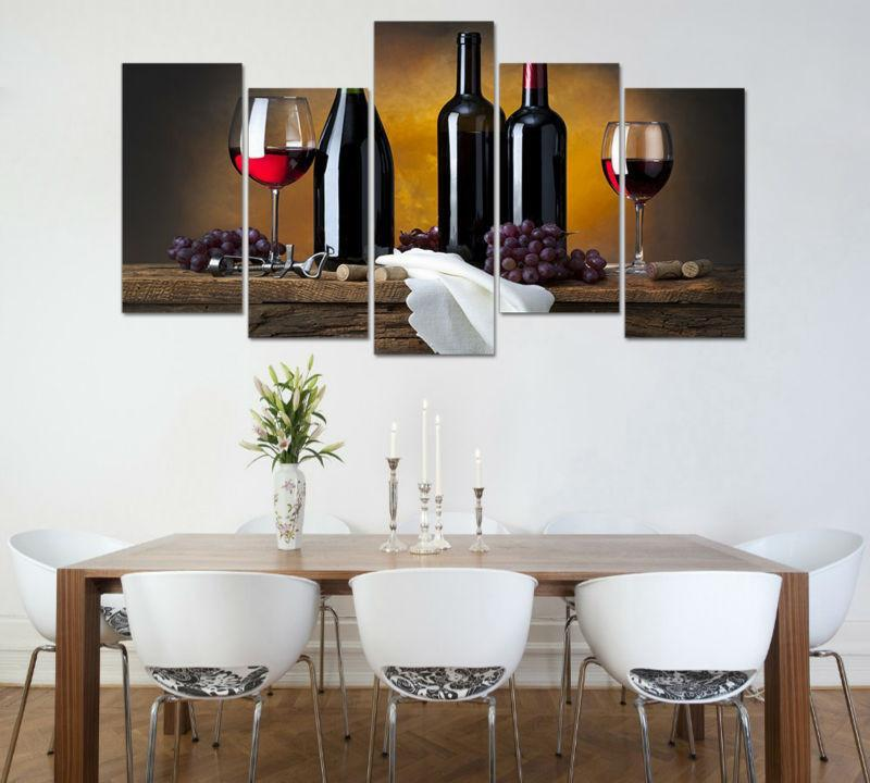 5 Piece Wine Prestige 5 Canvas Wall Art Sets - It Make Your Day