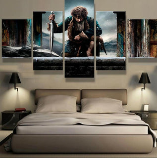 5 Piece Lotr Hobbit Canvas Wall Art Paintings