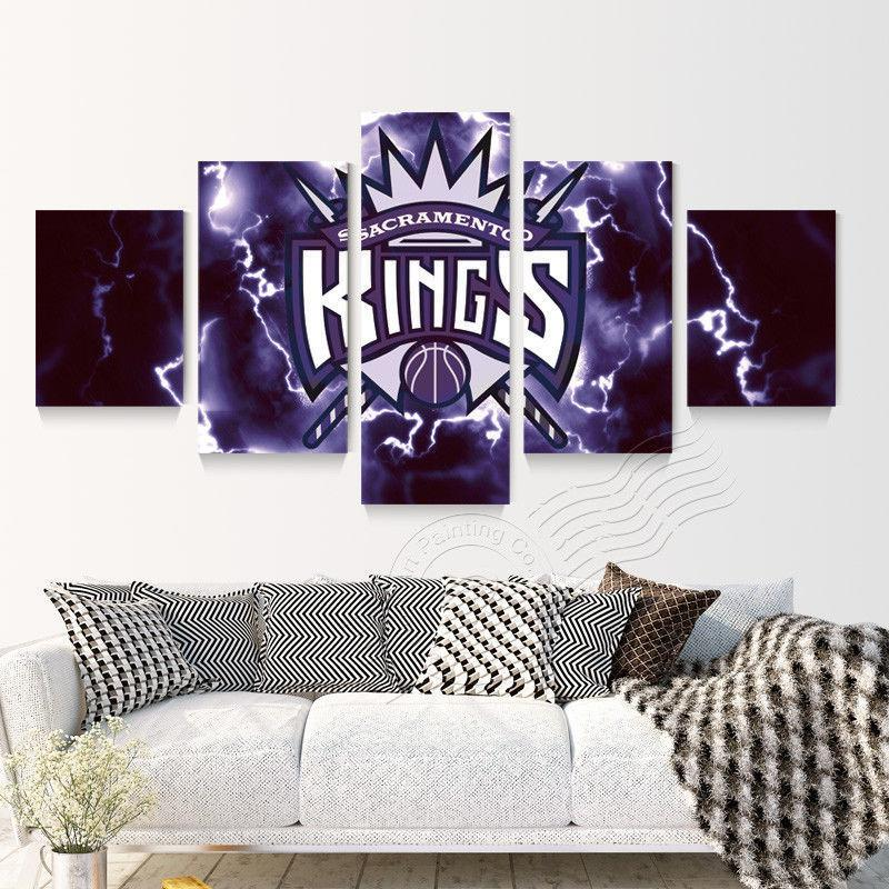 5 Piece Sacramento Kings Basketball Canvas Paintings - It Make Your Day