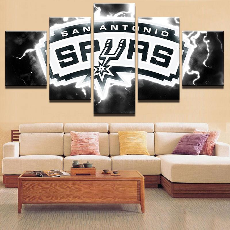 5 Piece San Antonio Spurs Basketball Canvas Paintings - It Make Your Day