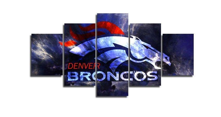 5 Piece Denver Broncos Wall Art Canvas Paintings - It Make Your Day