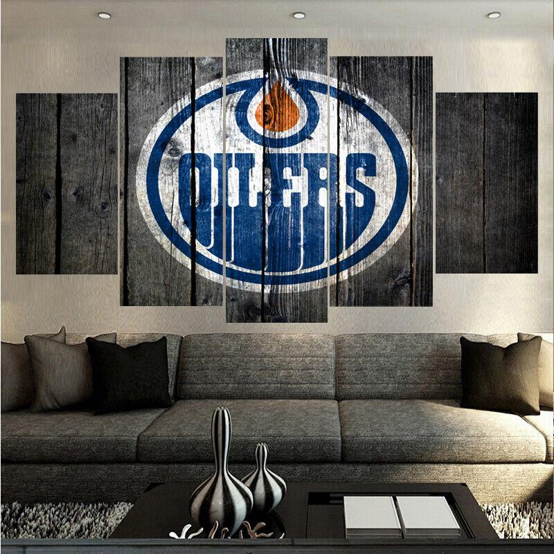 5 Piece Edmonton Oilers 5 Hockey Canvas - It Make Your Day