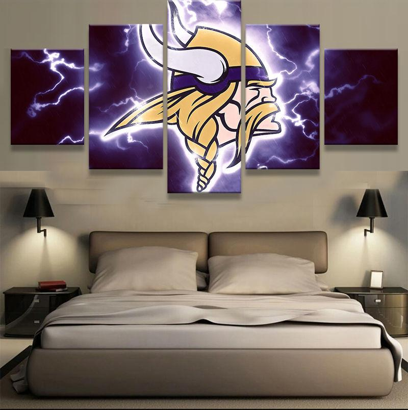 5 Piece Minnesota Vikings HD Prints Canvas Paintings - It Make Your Day