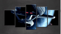 Framed 5 Piece Star Trek Enterprise Prints Canvas Wall Art Paintings - It Make Your Day