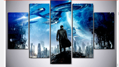 Framed 5 Piece Star Trek Enterprise Movie Canvas Wall Art Paintings - It Make Your Day