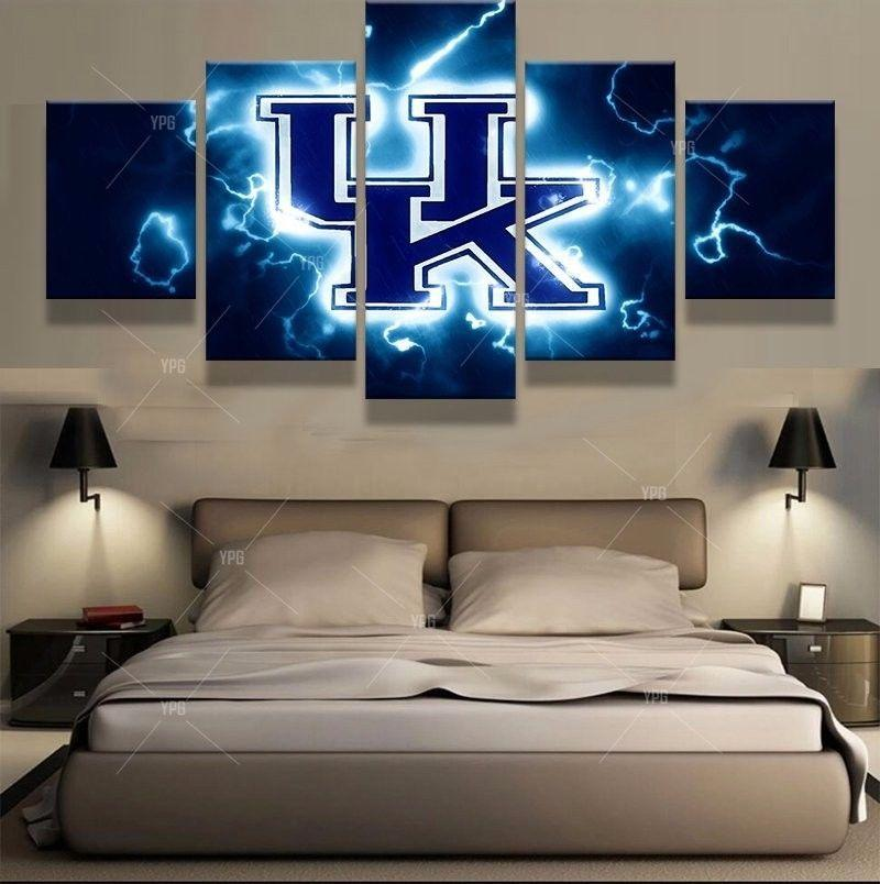 5 Piece University of Kentucky Basketball Canvas Paintings - It Make Your Day