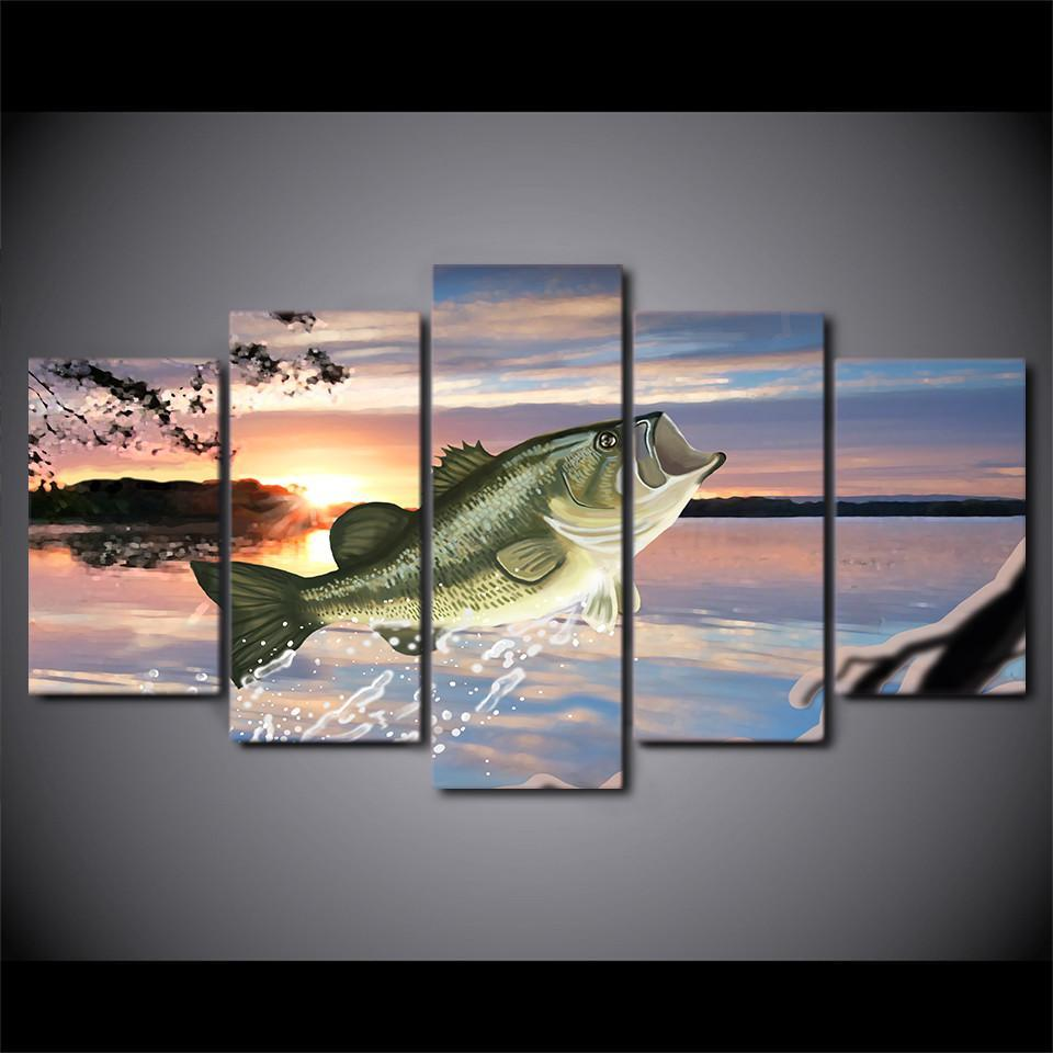 5 Piece Ocean Fish Canvas - It Make Your Day