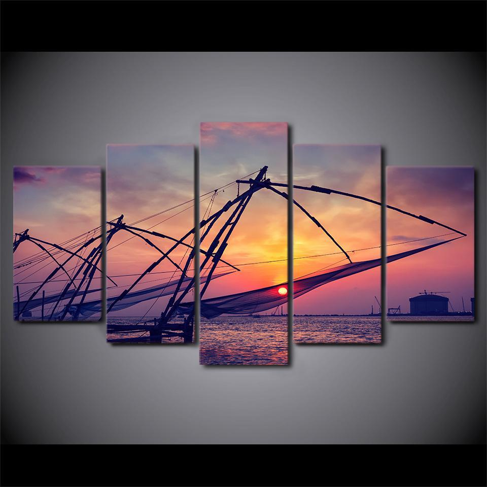 5 Piece Ocean Fishing Canvas - It Make Your Day