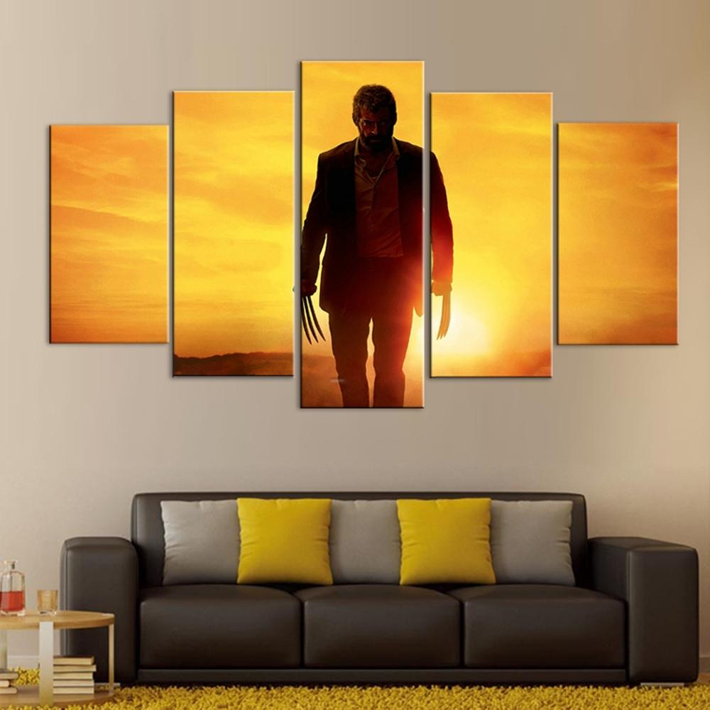 5 Piece Logan Poster Movie Canvas Wall Art Paintings For Sale – It ...