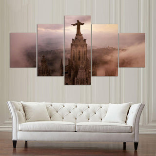 Framed 5 Piece Lord Jesus Christ Canvas - It Make Your Day