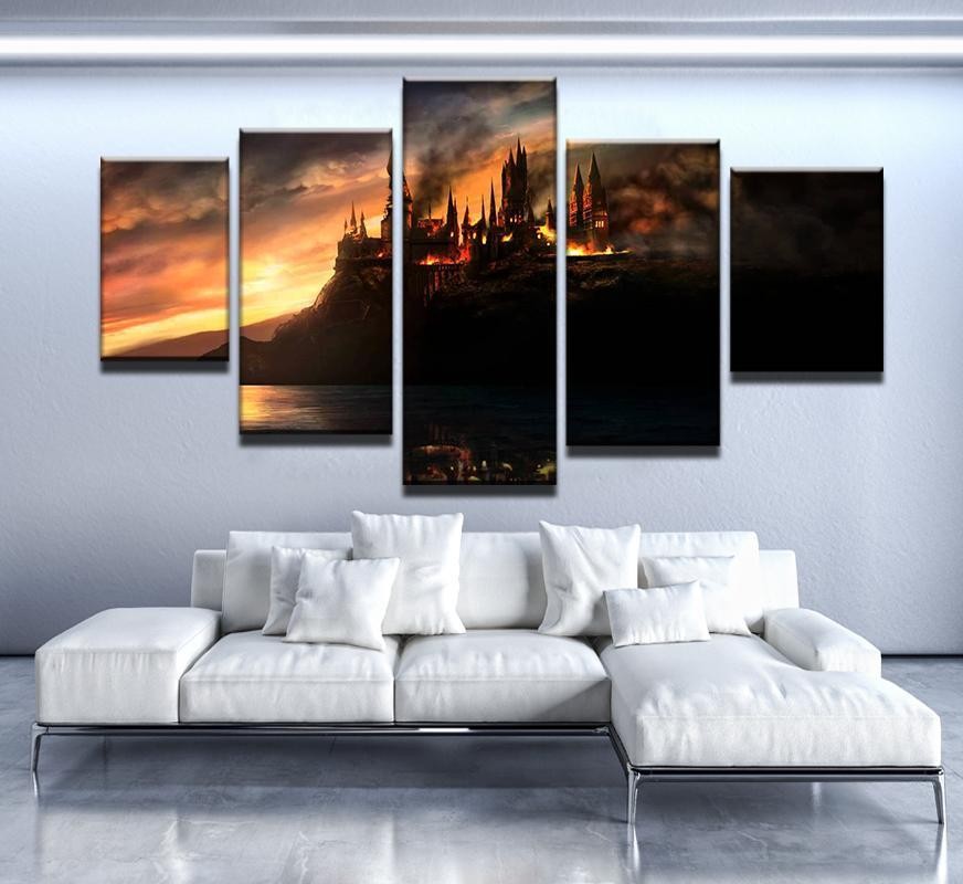 5 Piece Magic Castle Canvas Wall Art Paintings - It Make Your Day