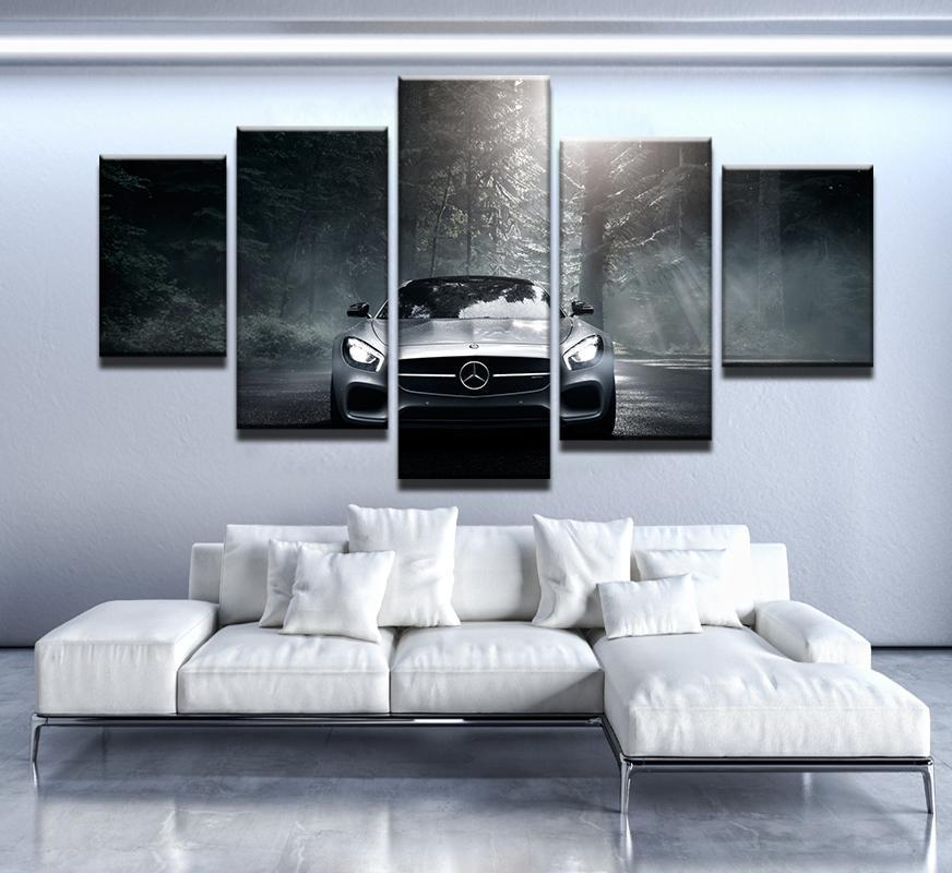 5 Piece Mercedes Benz Car Canvas Wall Art Paintings - It Make Your Day