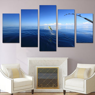 5 Pieces Mahi Mahi Fishing Canvas Wall Art - It Make Your Day