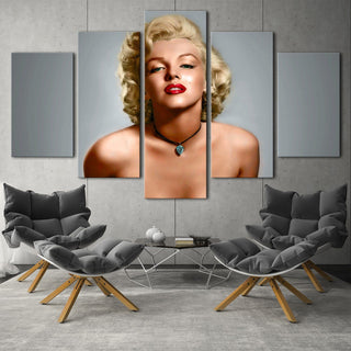5 Pieces Marilyn Monroe Canvas Paintings - It Make Your Day