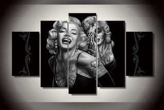 5 Piece Marilyn Monroe Art Movie Canvas Painting Wall Art - It Make Your Day