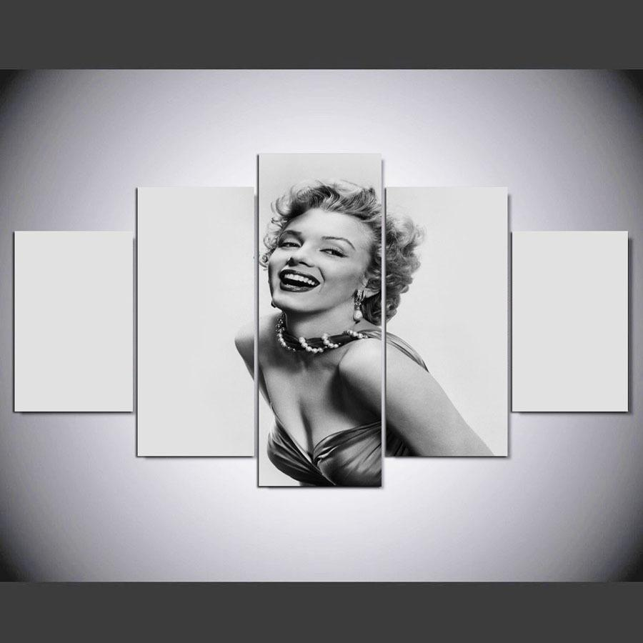 5 Pieces Marilyn Monroe Canvas Wall Art Prints - It Make Your Day