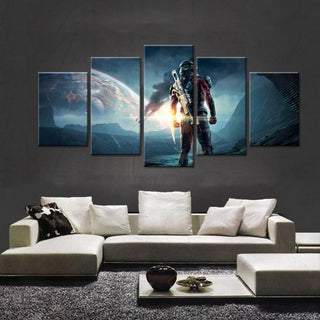 5 Piece Mass Effect: Andromeda Movie Canvas Painting Wall Art - It Make Your Day