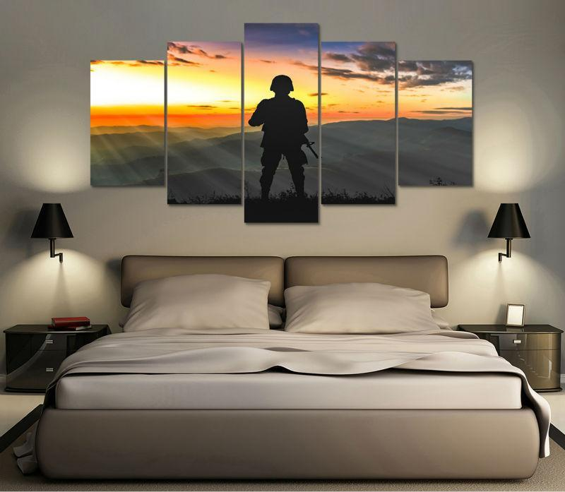 "Military ""Frontier Solider"" Canvas Painting Wall Art - It Make Your Day"