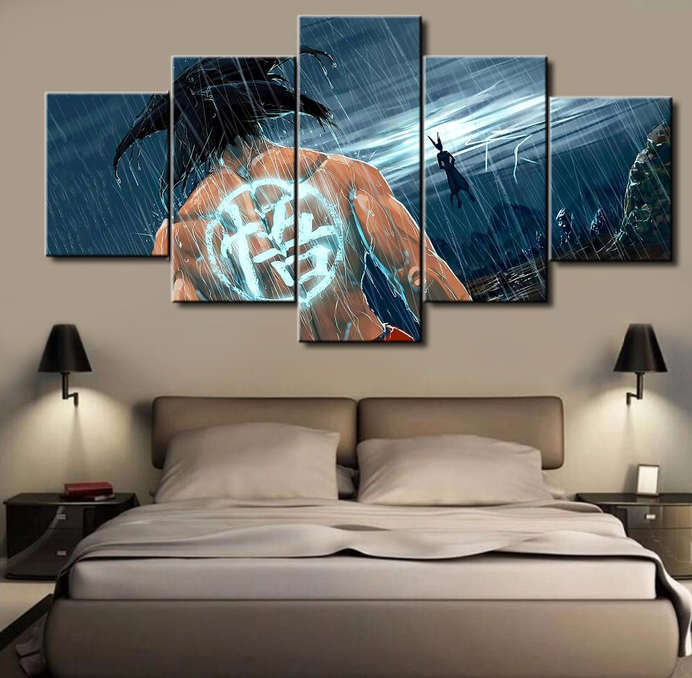 canvas paintings for sale. Framed 5 Piece Cartoon Anime Dragon Ball 6 Canvas Wall Art Paintings - It Make Your For Sale I