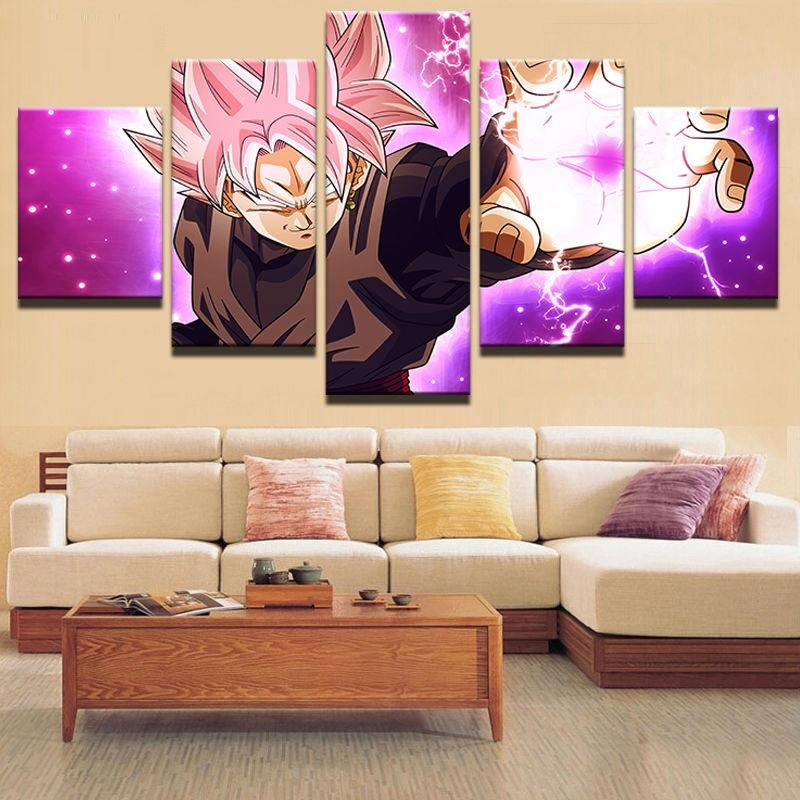 Framed 5 Piece Cartoon Dragon Ball Poster Canvas Wall Art Paintings - It Make Your Day