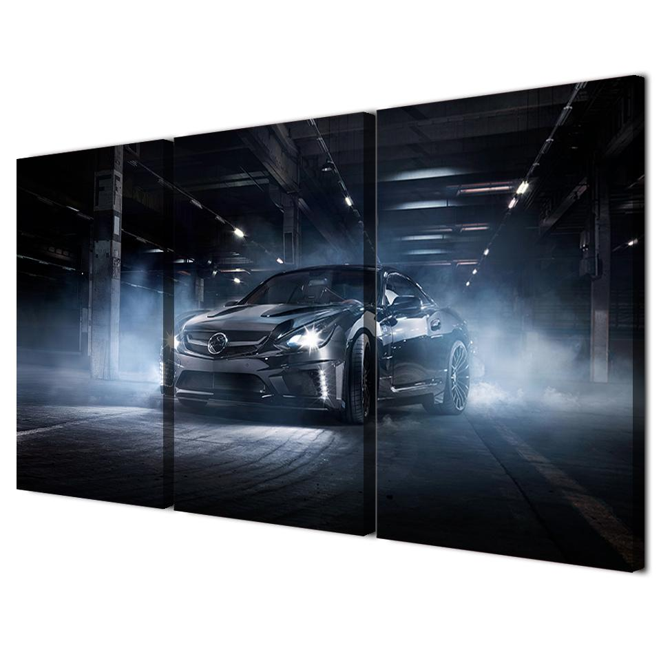 3 Piece Black Cool Flashy Sports Car Canvas - It Make Your Day