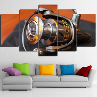 5 Piece Fishing Rod HD Printed Canvas Wall Art Sets - It Make Your Day