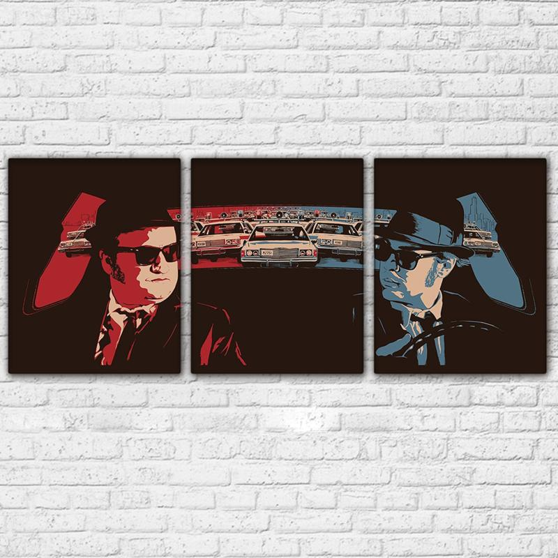 3 Piece Retro Car Movie Character Canvas Wall Art Sets - It Make Your Day