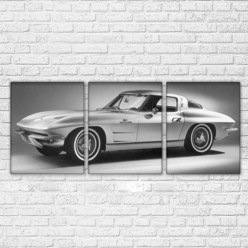 Piece Silver Gray Cool Luxury Sports Cars Canvas Wall Art Sets - Cool modern cars