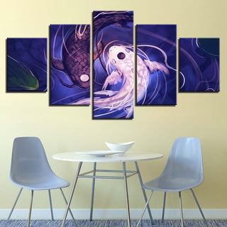 5 Piece Fish Koi Yin Yang Canvas Wall Art Paintings - It Make Your Day