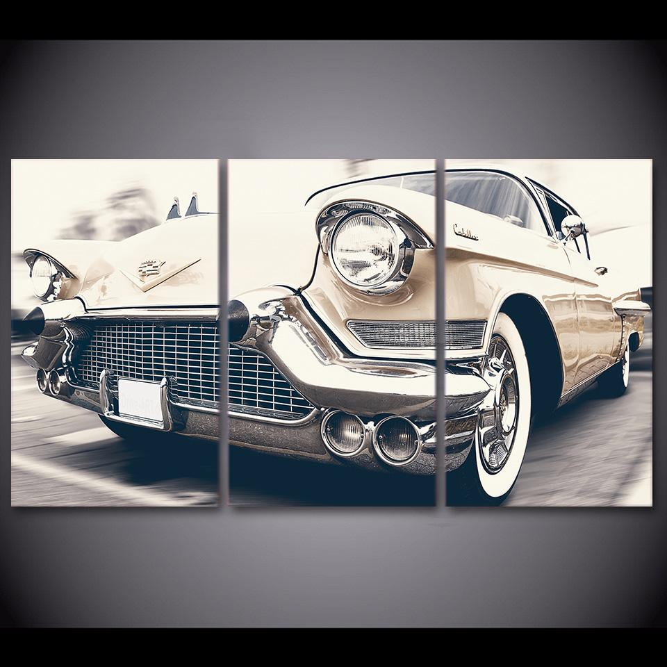 3 Panel Car Vintage Canvas Wall Art Sets - It Make Your Day