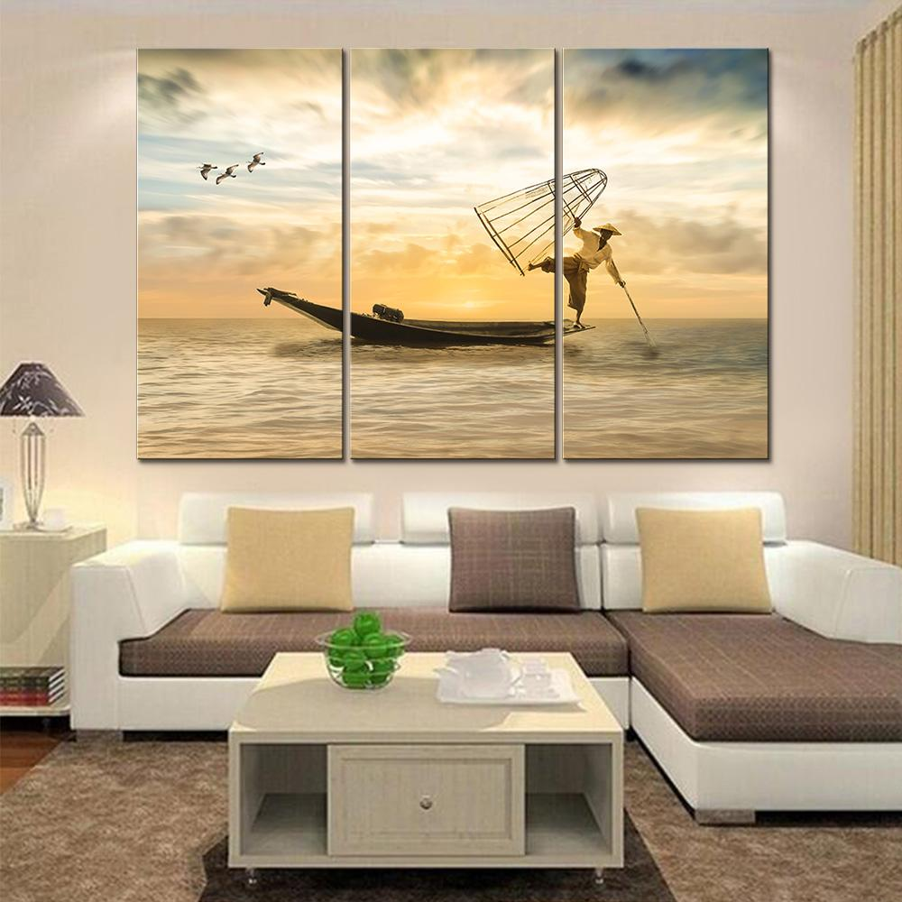 5 Piece Sea Fishing People Canvas Wall Art Sets – It Make Your Day
