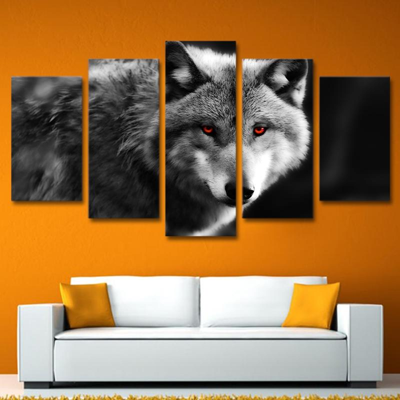 Animal Photo Red Eyes Wolf - It Make Your Day