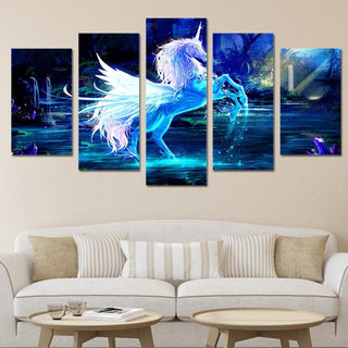 5 Pieces Horse Canvas Wall Art - It Make Your Day