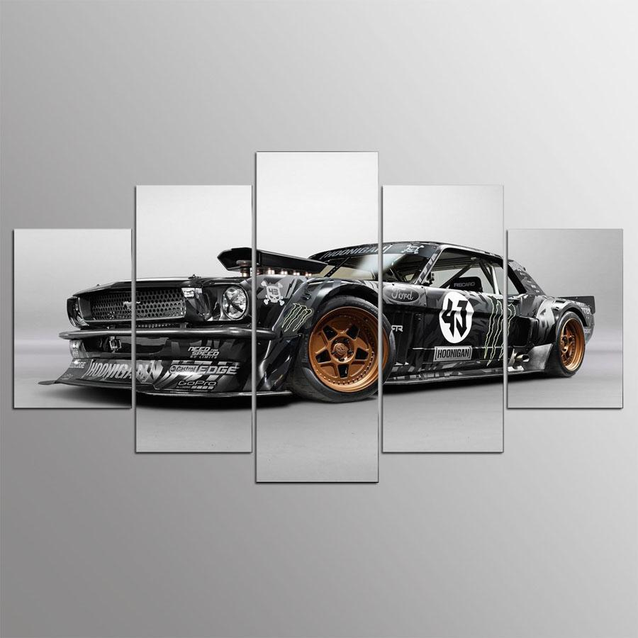... 5 Pieces Ford Mustang Car Canvas Wall Art - It Make Your Day ... & 5 Piece Ford Mustang Car Canvas Wall Art Paintings For Sale u2013 It ...