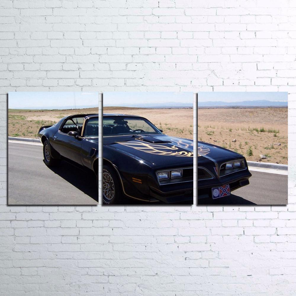 3 Piece Smokey And The Bandit Movie Canvas Wall Art Sets - It Make Your Day