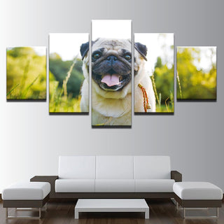 5 Pieces Cute Pug Puppies Canvas Wall Art Prints - It Make Your Day