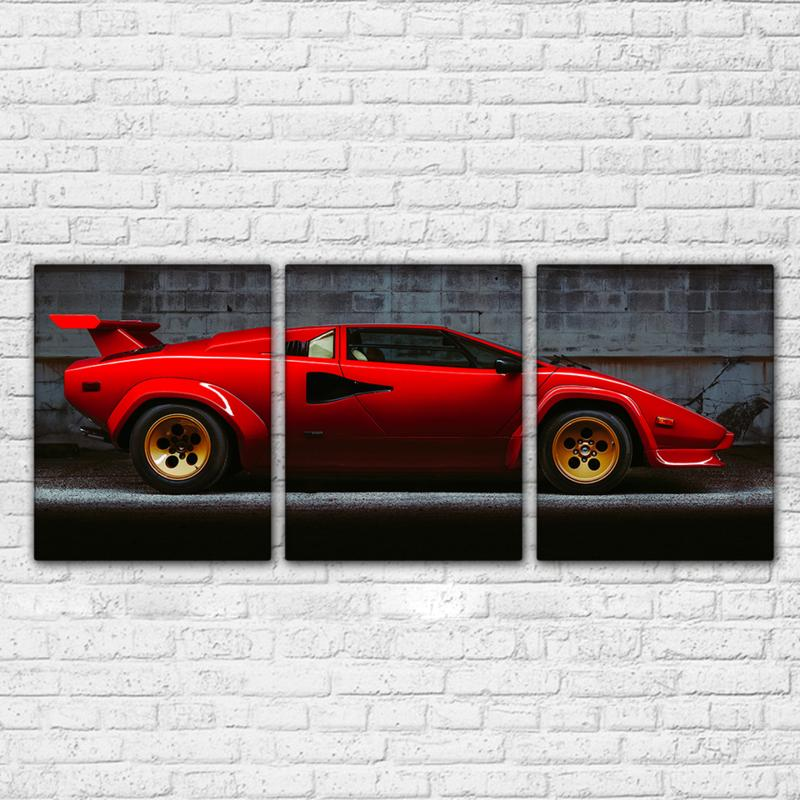 3 Piece Red Luxury Sports Car Canvas Wall Art Sets - It Make Your Day