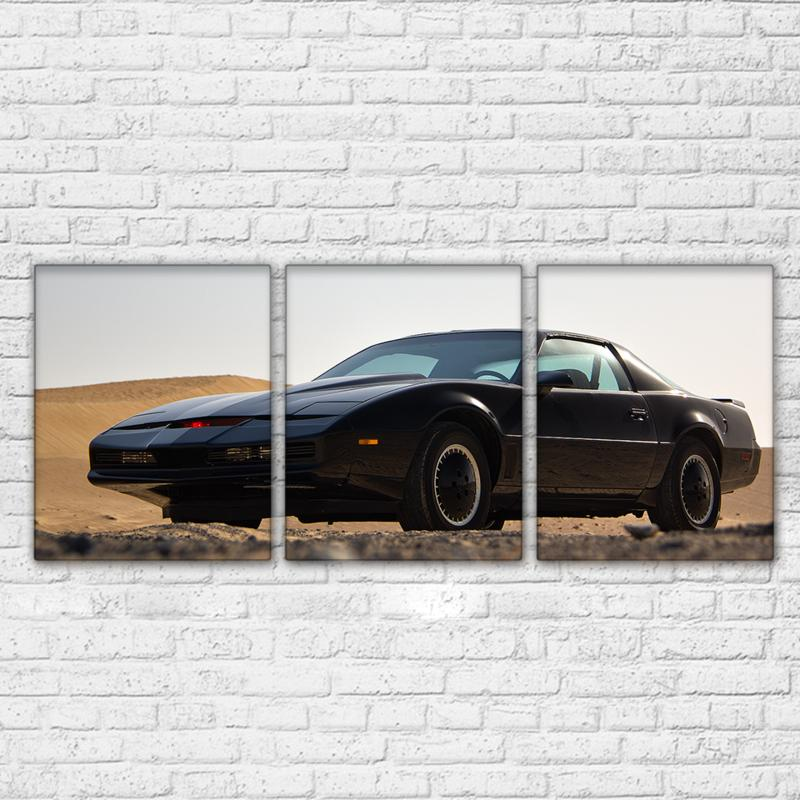 3 Panel Black Cool Luxury Sports Car Canvas - It Make Your Day