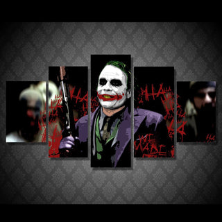 5 Piece Movie Joker Art Batman Abstract Canvas Painting Wall Art - It Make Your Day