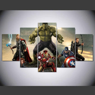 5 Piece Movie Super Hero Avengers Canvas Wall Art Sets - It Make Your Day