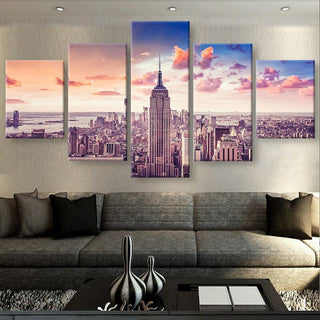 5 Piece New York Canvas Wall Art Paintings - It Make Your Day