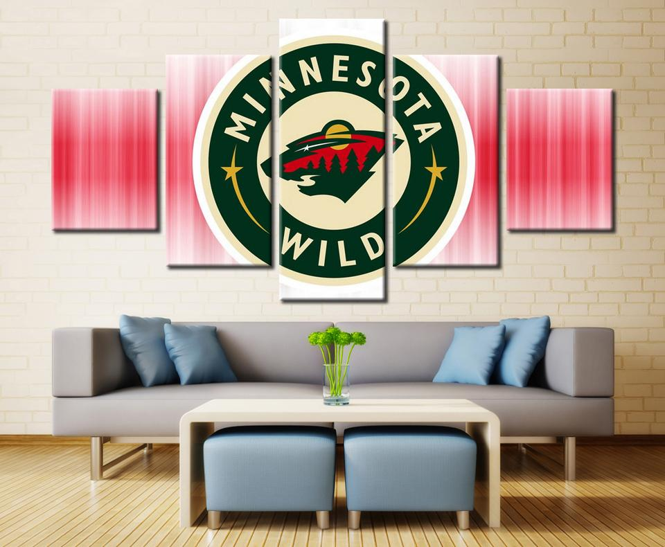 5 Piece Minnesota Wild 2 Ice Hockey Canvas - It Make Your Day