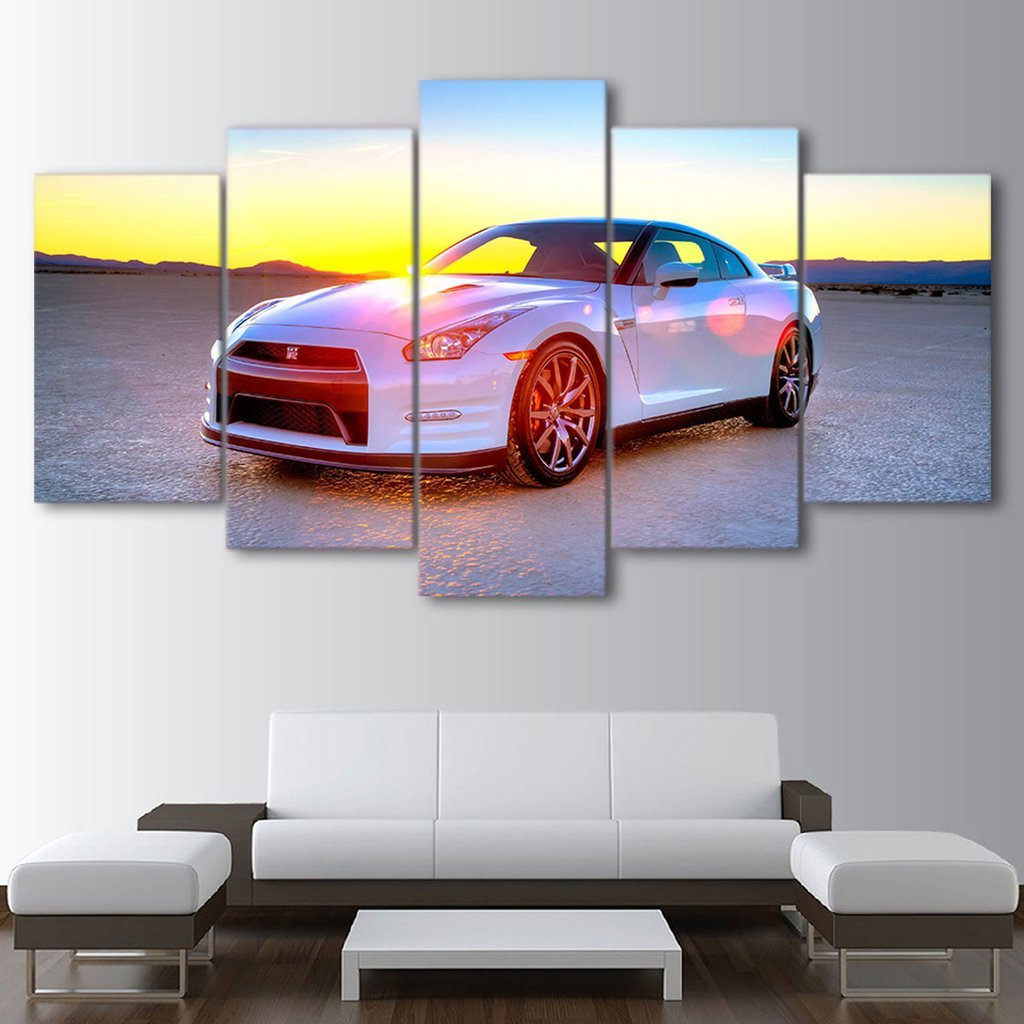 5 Piece Nissan GTR Car Canvas Wall Art Sets - It Make Your Day