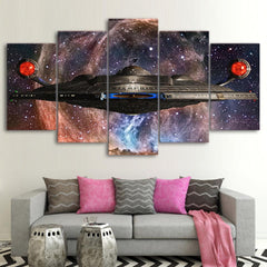 Framed 5 Piece Star Trek Enterprise Ship Canvas Wall Art Paintings - It Make Your Day
